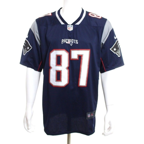 new styles 54cdf aa204 spain rob gronkowski on field jersey be16f 3162a